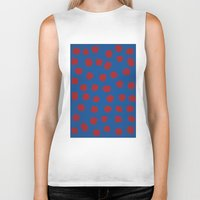 dots Biker Tanks featuring dots by MARI EBINE