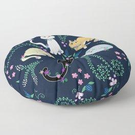 Garden Kitties Floor Pillow