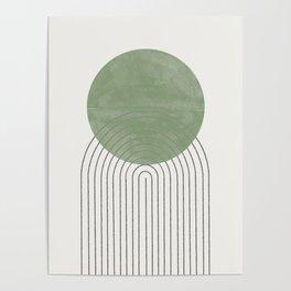 Green Sun Positive Vibe  Poster