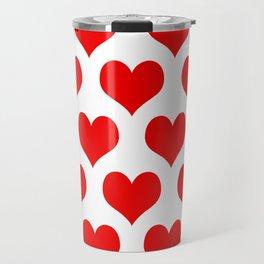 Holidaze Love Hearts Red Travel Mug