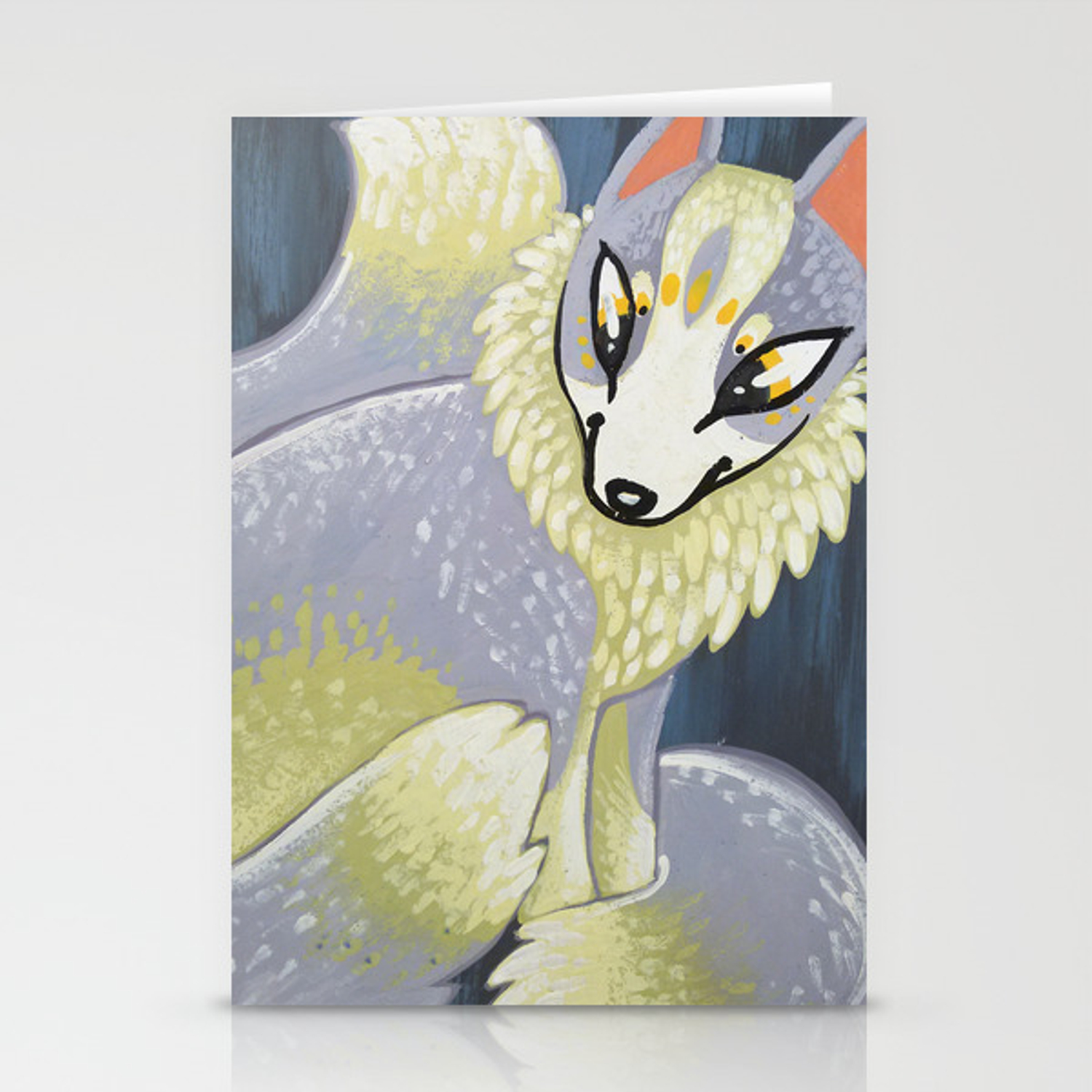 Marble Fox Stationery Cards By Nataliefernandez Society6