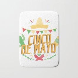 Cinco De Mayo Mexican Party Cinco De Mayo Costume Bath Mat