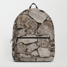 Old Rustic Stone Wall Backpack