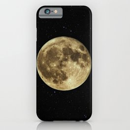 MOON - SKY - STARS - GALAXY - SPACE - PHOTOGRAPHY iPhone Case
