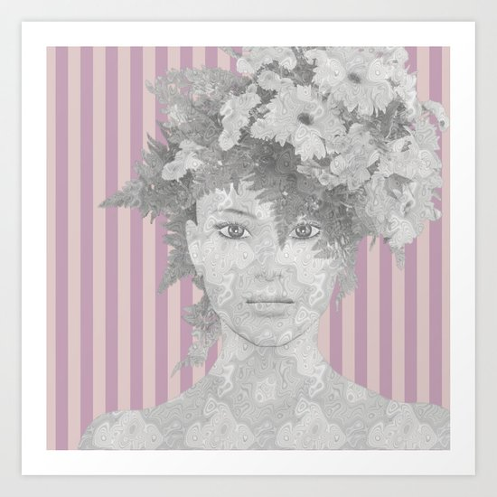 Look at me (romantic flowers vintage) Art Print