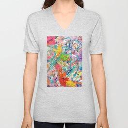 Colorful Distortion Unisex V-Neck