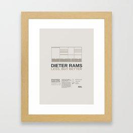 Less but Better Framed Art Print