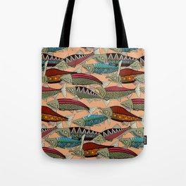 Alaskan salmon peach Tote Bag