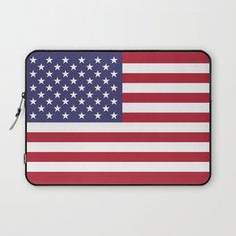 US Flag - Authentic colors Laptop Sleeve