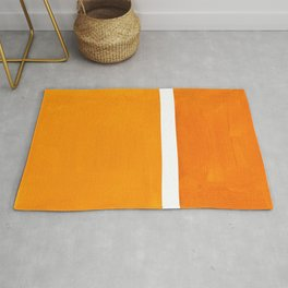 Antique Yellow  & Yellow Ochre Mid Century Modern Abstract Minimalist Rothko Color Field Squares Rug