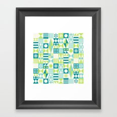 Tradewinds teal Framed Art Print