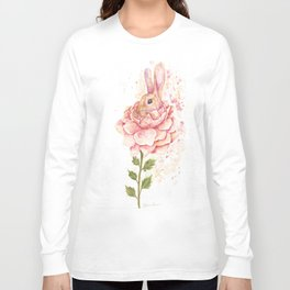 Flower Bunny Long Sleeve T-shirt