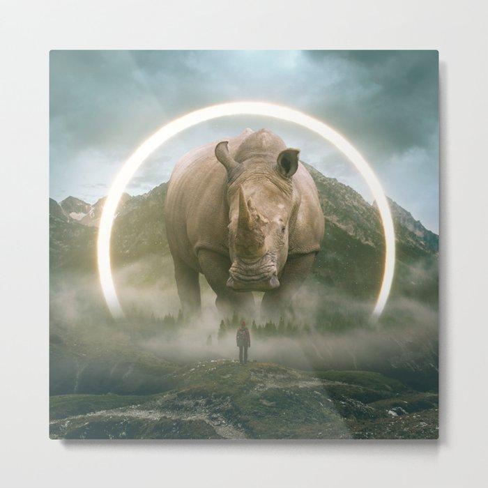 aegis | rhino Metal Print