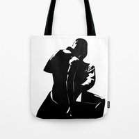 "shameless Tote Bags featuring Shameless ""Dirty Dancing"" by trenchcoatandimpala"