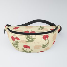 Poppies in the garden Fanny Pack