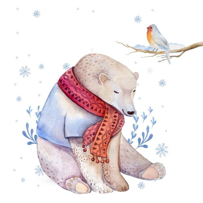 Christmas bear #2 Duvet Cover