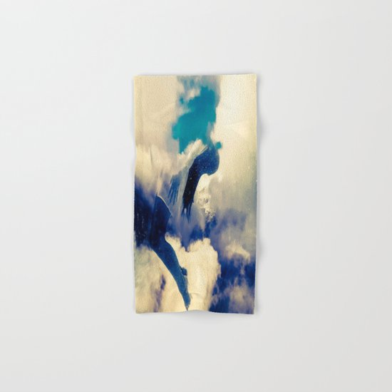 Woman and sky Hand & Bath Towel
