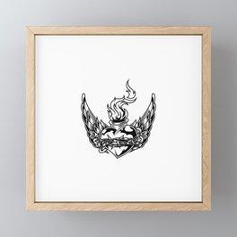 Fiery Heart Shaped Bottle Wire Framed Mini Art Print