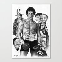 rocky Canvas Prints featuring Rocky by calibos