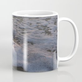 Dog playing and watching the water for the first time Coffee Mug