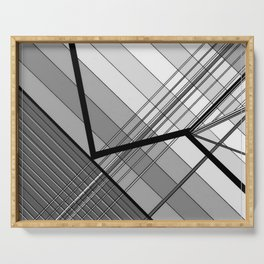 Gray Geometry 2 Serving Tray