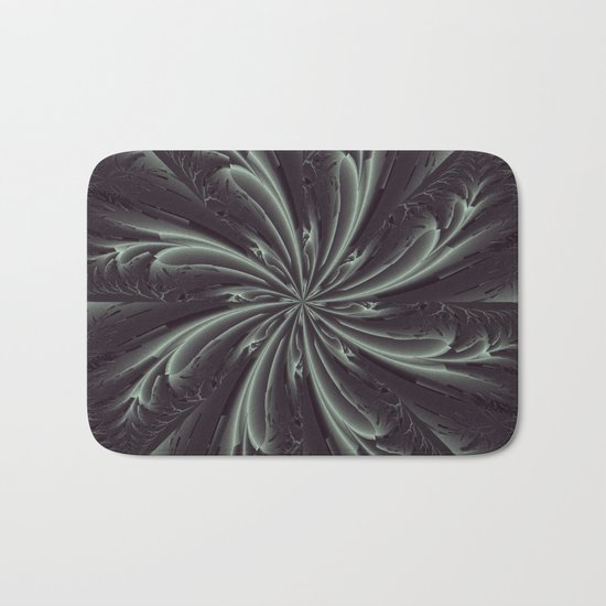 Out of the Darkness Fractal Bloom Bath Mat