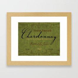 Vintage Wine Label Print (Chardonnay) Framed Art Print