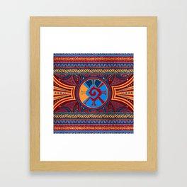 Colorful Hunab Ku Mayan symbol #3 Framed Art Print