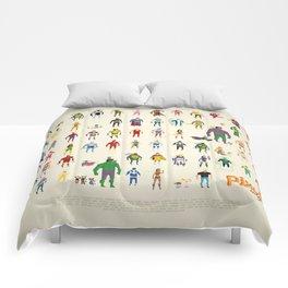 Pixel Nostalgia Comforters