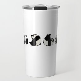 "A Cute Panda Tee For Animal Lovers Saying ""This Is How I Roll"" T-shirt Design Black And White  Travel Mug"