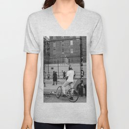 New York Basketball Unisex V-Neck