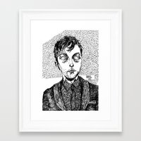 dave matthews Framed Art Prints featuring dave. by Valeria Pomidoro