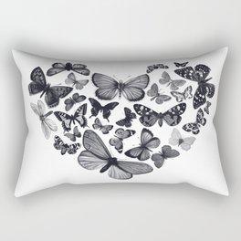 BUTTERFLY LOVE MONO Rectangular Pillow