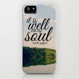Well with My Soul iPhone Case