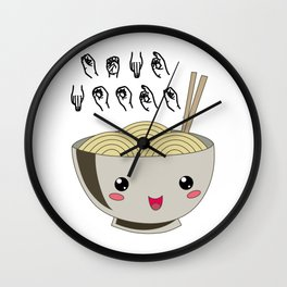 Send Noods Ramen Japanese Noodle Lover In Sign Language Wall Clock