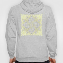 Sunny Doodle Mandala in Yellow & Grey Hoody