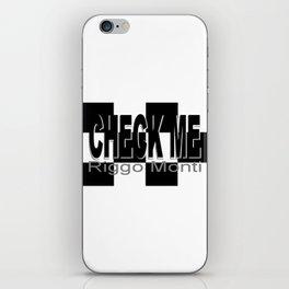Riggo Monti Design #16 - Check Me iPhone Skin