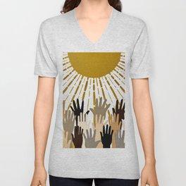Seek The Sun Unisex V-Neck