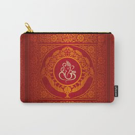 Hindu Elephant Pattern (Shree Ganesh) Carry-All Pouch