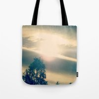 shining Tote Bags featuring Shining by Eirin Wie Haveland