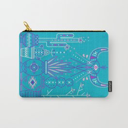 Santa Fe Garden – Blue & Purple Carry-All Pouch