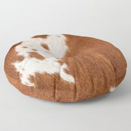 Cowhide, Cow Skin Pattern, Farmhouse Decor Floor Pillow