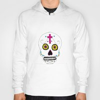 mexican Hoodies featuring Mexican Skull by Mariam Tronchoni
