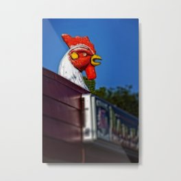 Scary Chicken Metal Print
