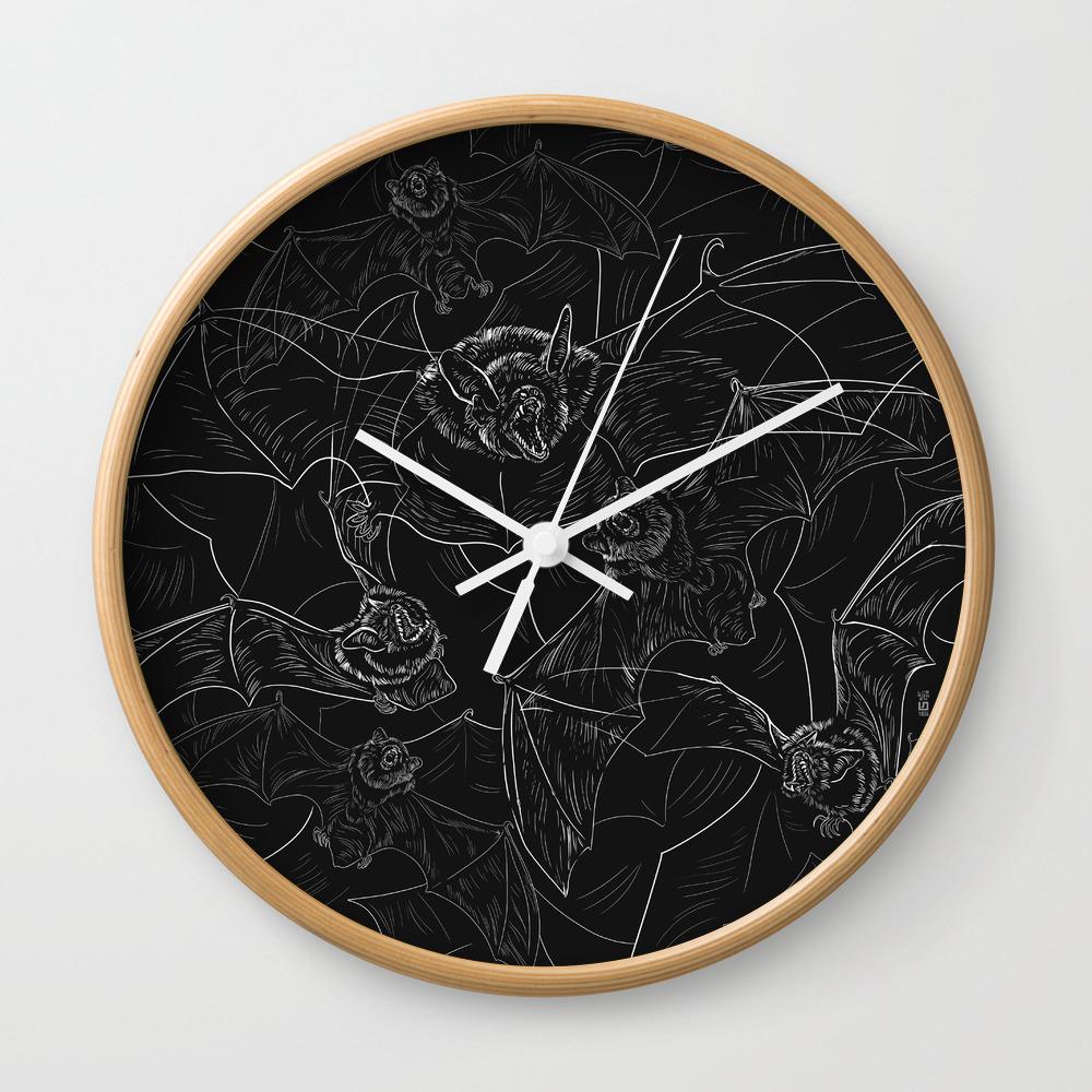 Bat Wall Clock By 7115 Society6