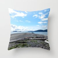 kirby Throw Pillows featuring Camp Kirby by Krista Dawn