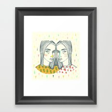 Last Sunset Twins Framed Art Print