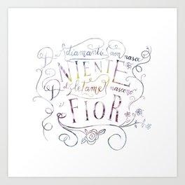 Via del campo - lettering Art Print