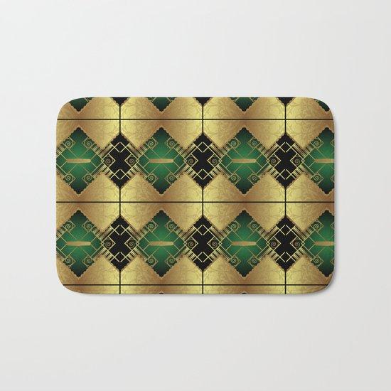 Vintage Art Decó Pattern Bath Mat