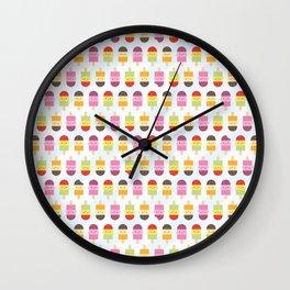 Kawaii Summer Ice Lollies / Popsicles Wall Clock